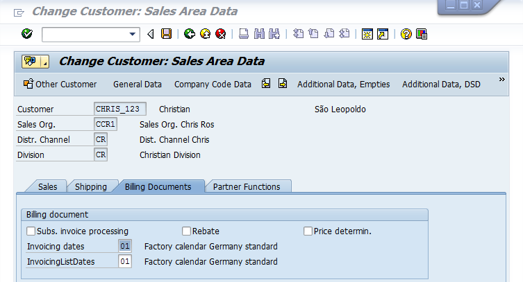 Factory Calendar Sales Organization Sap : Erp sd invoice lists scn wiki