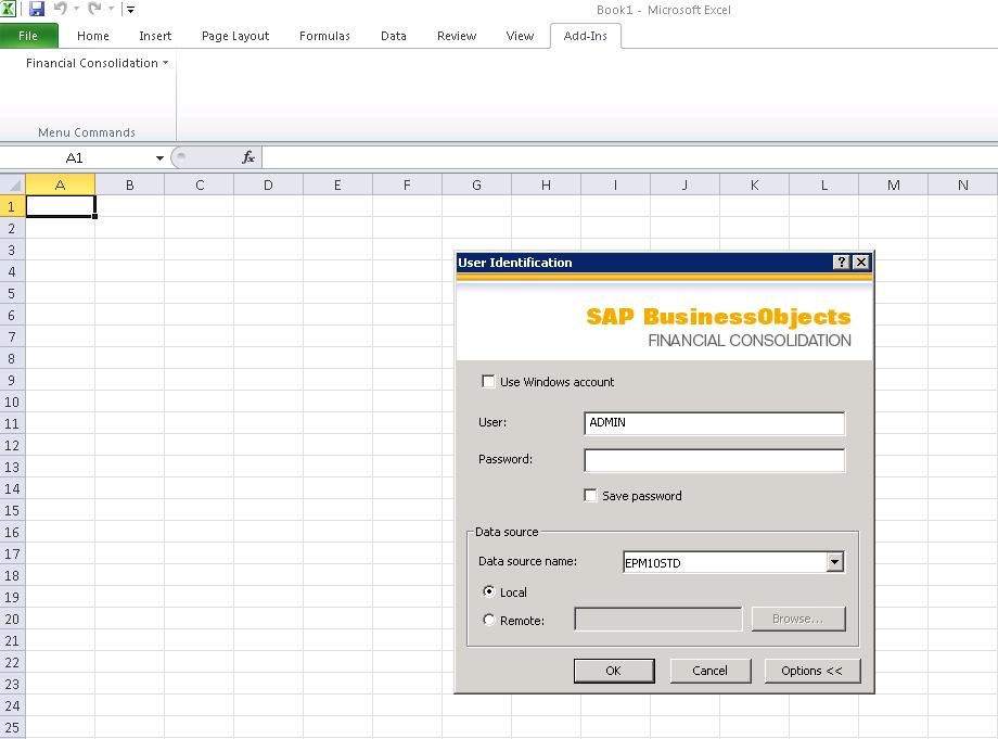 How to import data in Excel link - Enterprise Performance Management ...