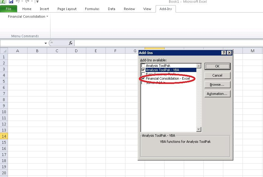 How to import data in Excel link - Enterprise Performance