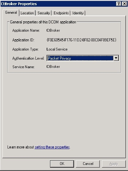 How to set up the DCOM Environment configuration on the