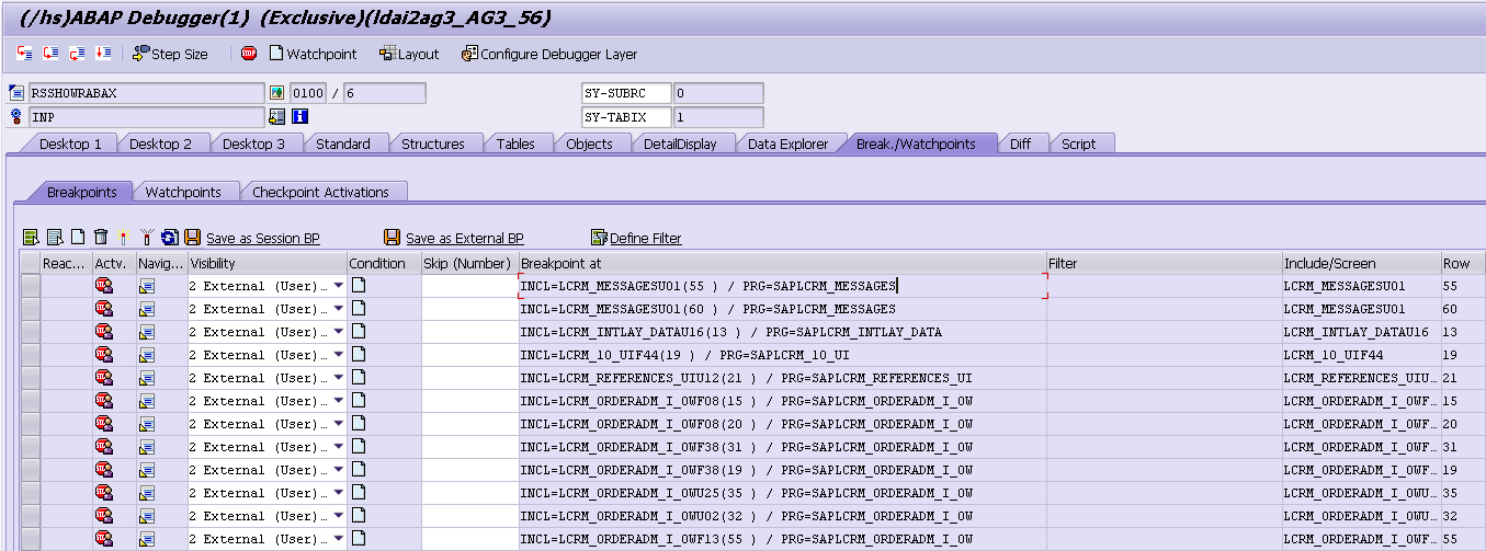 A quick overview of all breakpoint set for your users - ABAP
