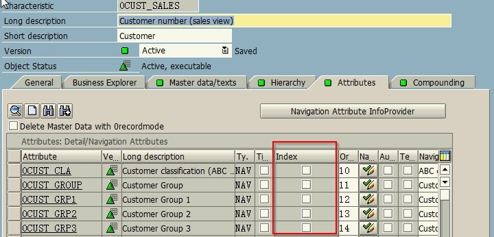 how to create secondary index on dso sap bw