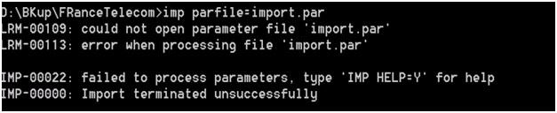 import imp-00010 not a valid export file header failed verification