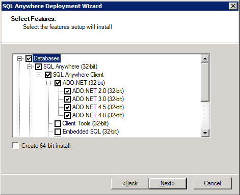 Creating a SQL Anywhere ADO NET Provider Client Deployment Package