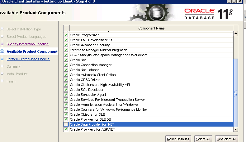 How to install Orcale client under Intercompany application server