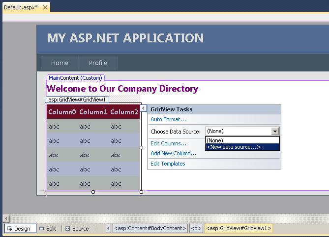 Creating an ASP NET Web Page Using SQL Anywhere - SAP SQL