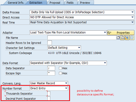 Loading currency-dependent key figures from flat files - SAP