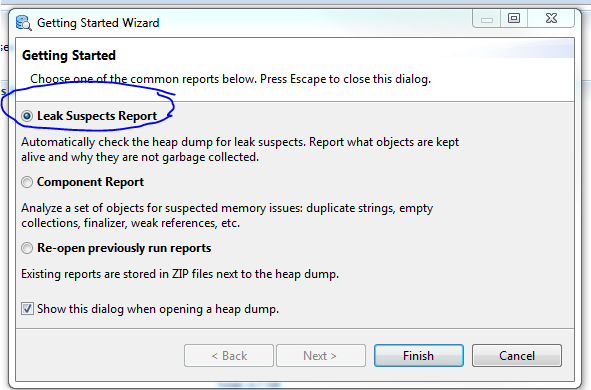 How to read a JVM Heaps ( hprof files) using Eclipse Memory