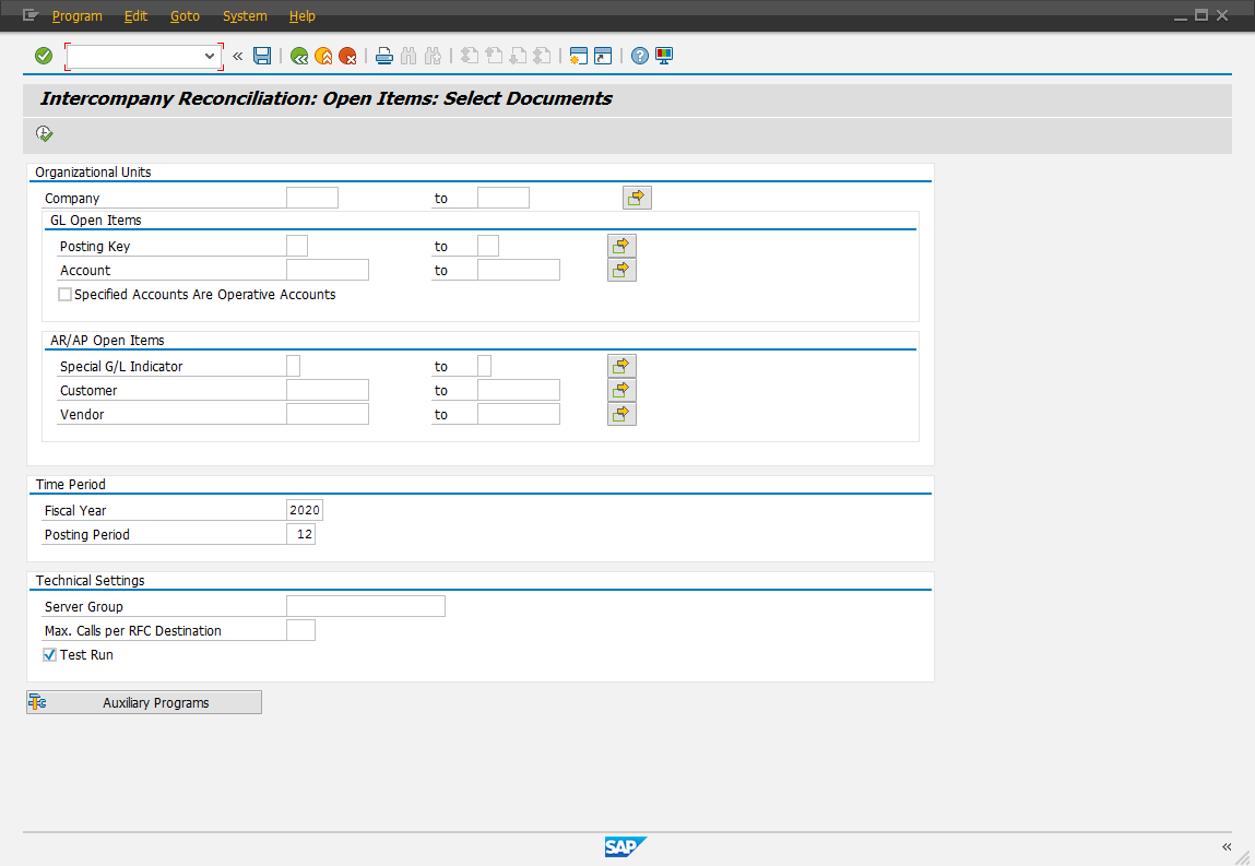 Step 1: Select Documents - ERP Financials - SCN Wiki