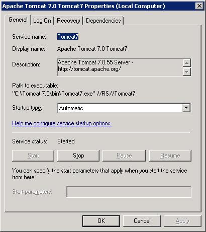Web application server configuration - Business Intelligence
