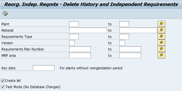 Reorganizing Independent Requirements (PP-MRP) - ERP