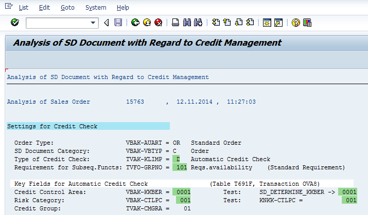 Different credit control area (KKBER) is determined than