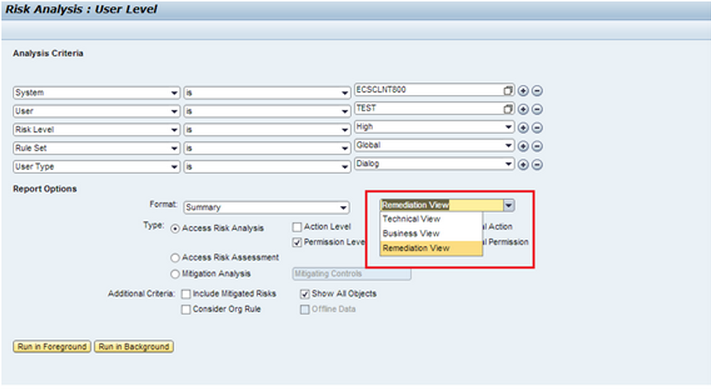 Remediation View Functionality and Configuration - Governance, Risk ...
