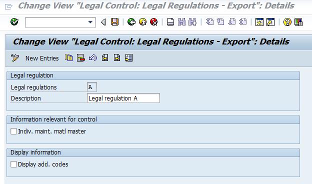 ERP SD LEGAL CONTROL - License check – material specific (SD-FT-CON