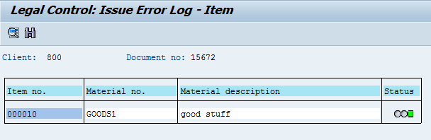 ERP SD LEGAL CONTROL - License check – material specific (SD