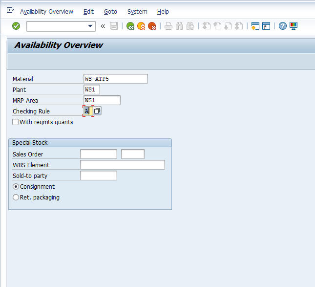 How to check the ATP situation - ERP SD - SCN Wiki