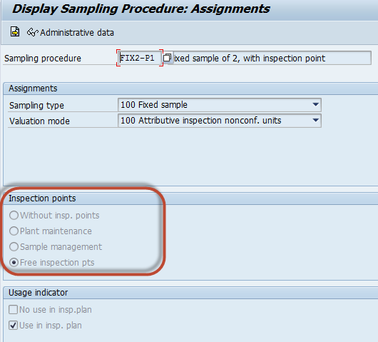 QD241 - Sampling procedure is not permitted for insp.point-related ...