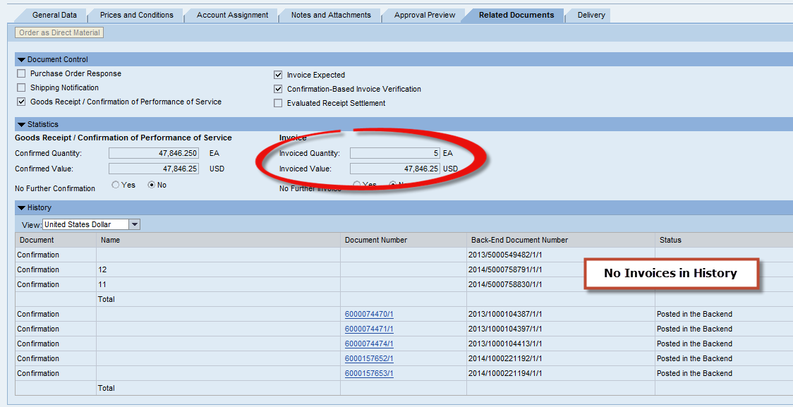 What Is Invoice Po Number | Service Invoices Not Shown In Related Documents Tab Supplier