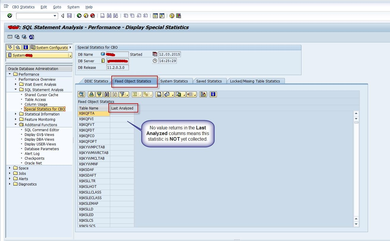 How to identify the Last Analyzed Date for SYSTEM, Oracle