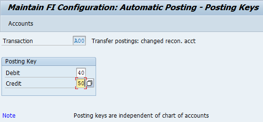Changed reconciliation accounts or partner - customizing and