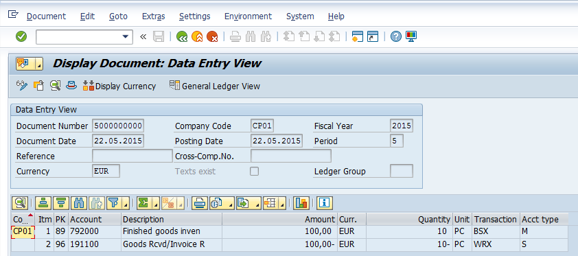 Quantity Update In Entry View And General Ledger View