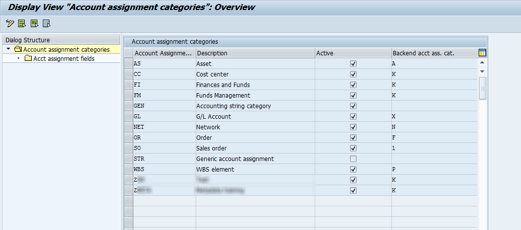 Define Account Assignment Categories - Supplier Relationship
