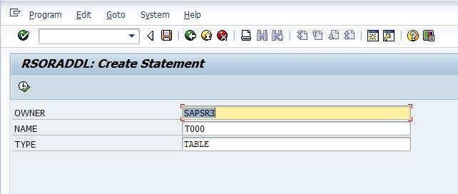 How to generate a create statement for Oracle database