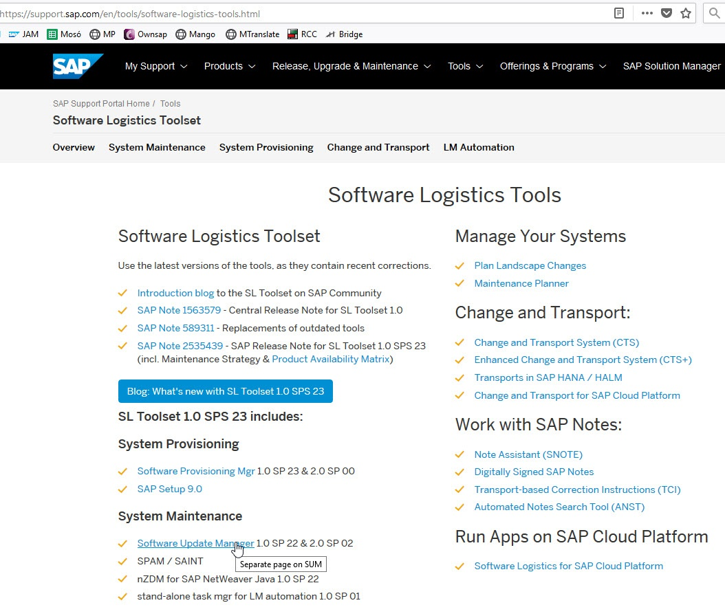 Software Update Manager (SUM) - Software Logistics - SCN Wiki
