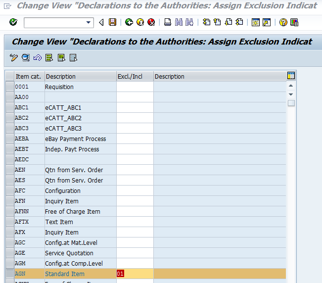 ERP Foreign Trade Declarations to Authorities - Customizing