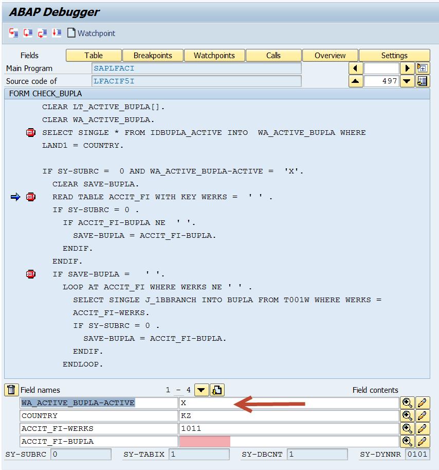 F5A 190: Enter a business place under Basic data - ERP SD