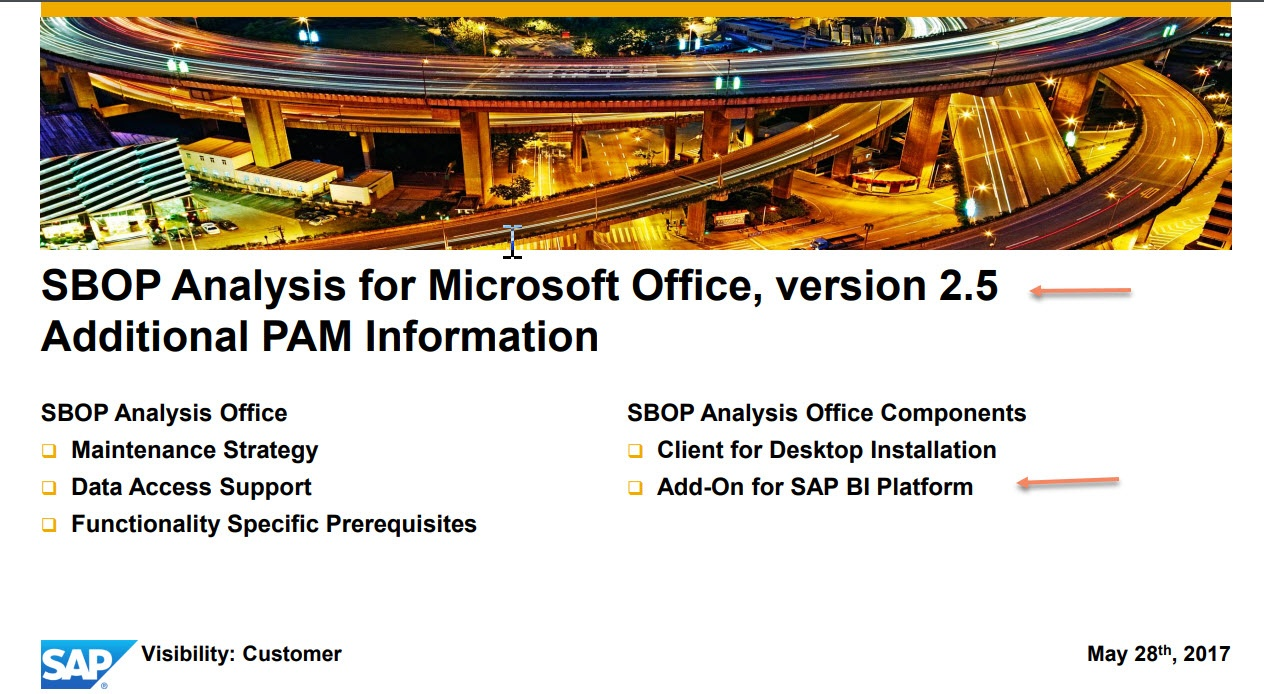 Analysis Office Installation and Update - SAP NetWeaver