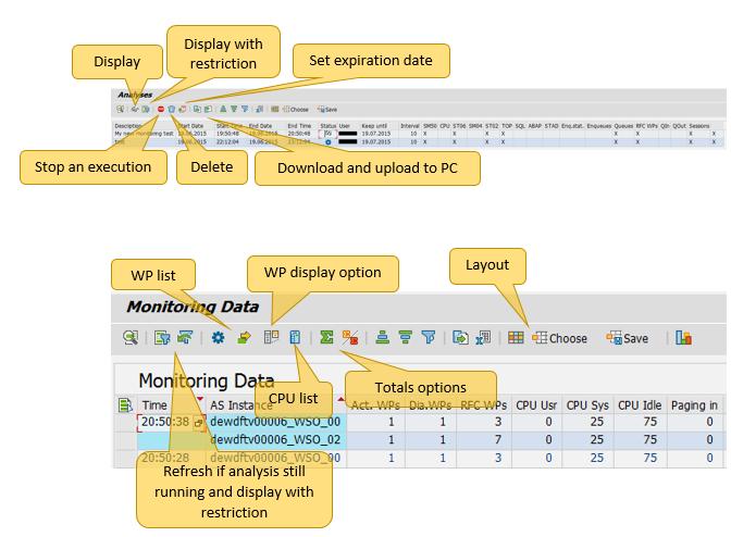 Display Snapshot Monitoring - Application Server Infrastructure