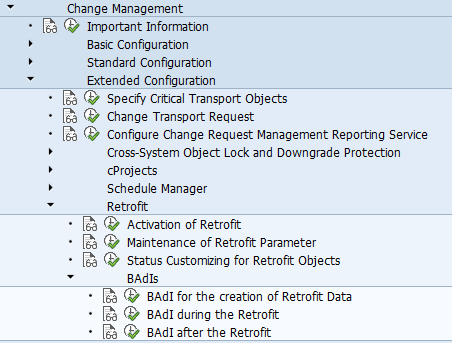 How to work with Change Request Management Enhanced Retrofit