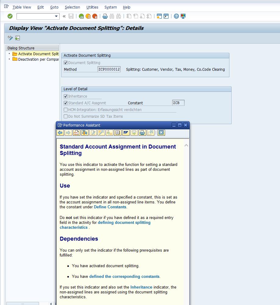 Constants (Standard Account Assignment) in New General