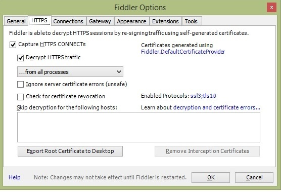 How to Capture Fiori Client Mobile Device Traffic using Fiddler