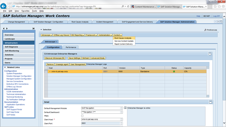 Configuring Web Dispatcher for Root Cause Analysis in Solution – Rca Template