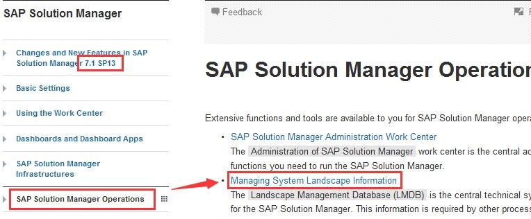 LMDB - Solution Manager - SCN Wiki