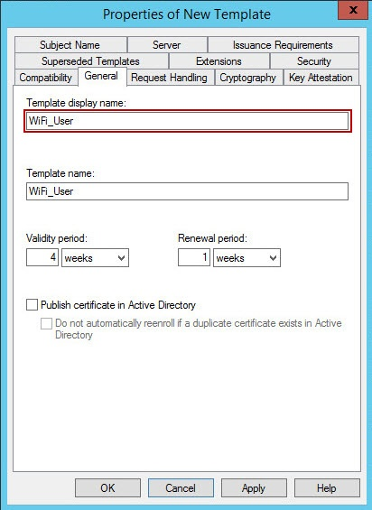 12 preparing the certificate template for wifi authentication the next screen are an example of how the template for the wifi cert based authentication can be configured it can be different depending on customer yelopaper Gallery