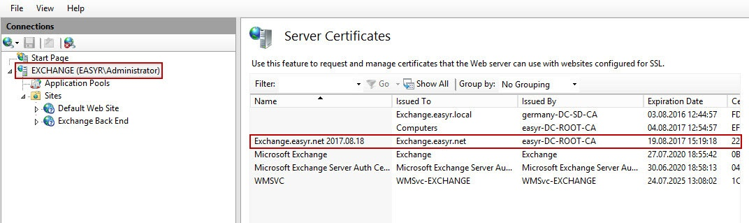2 - Configure and enable Exchange 2013 for Certificate Based ...
