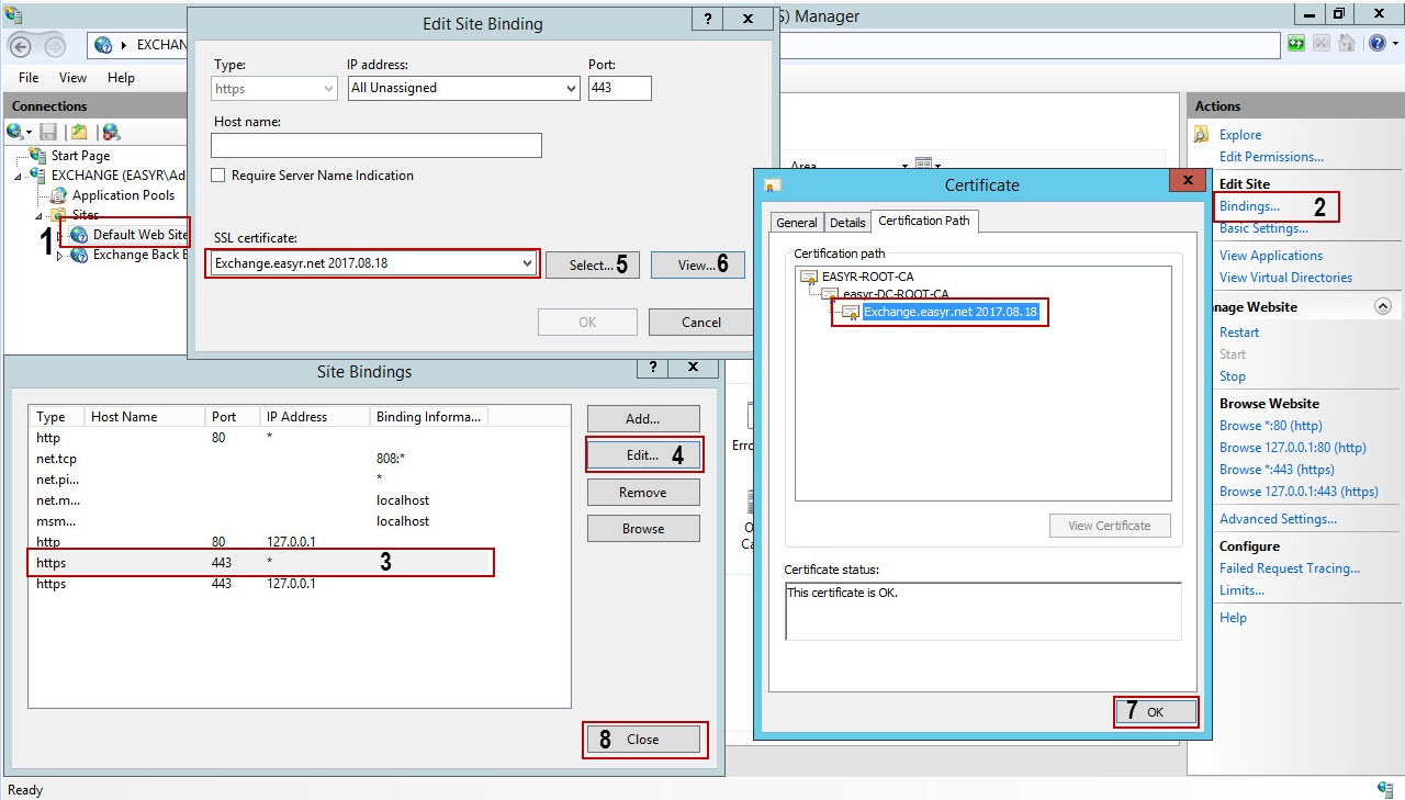 2 Configure And Enable Exchange 2013 For Certificate Based