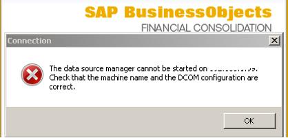 DCOM ISSUES - Enterprise Performance Management - SCN Wiki