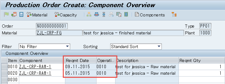 how to find lead time in sap