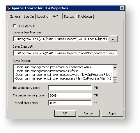 How to configure JMX for Apache Tomcat (Windows) - Business