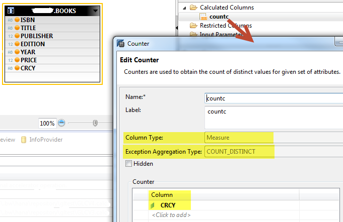 Exception Aggregation defined in a HANA Model - SAP