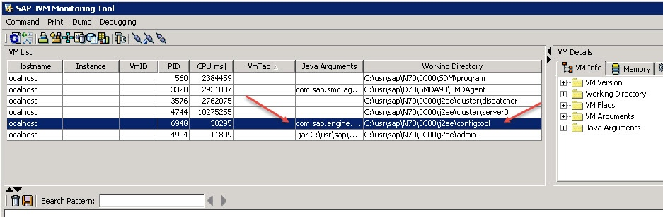 JAVA) Hanging configtool - SAP Netweaver Application Server