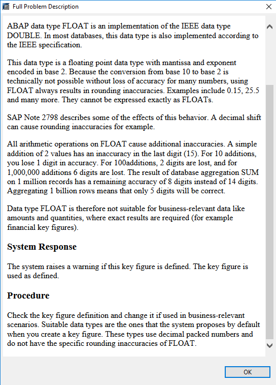 Key Figures of data type FLTP - SAP NetWeaver Business