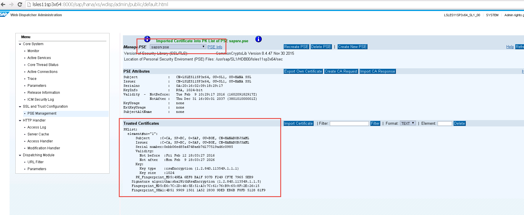 SAML SSO for BI Platform to HANA - SAP HANA - SCN Wiki