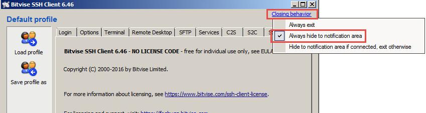 Howto setup Bitvise SSH Client as enterprise connector as