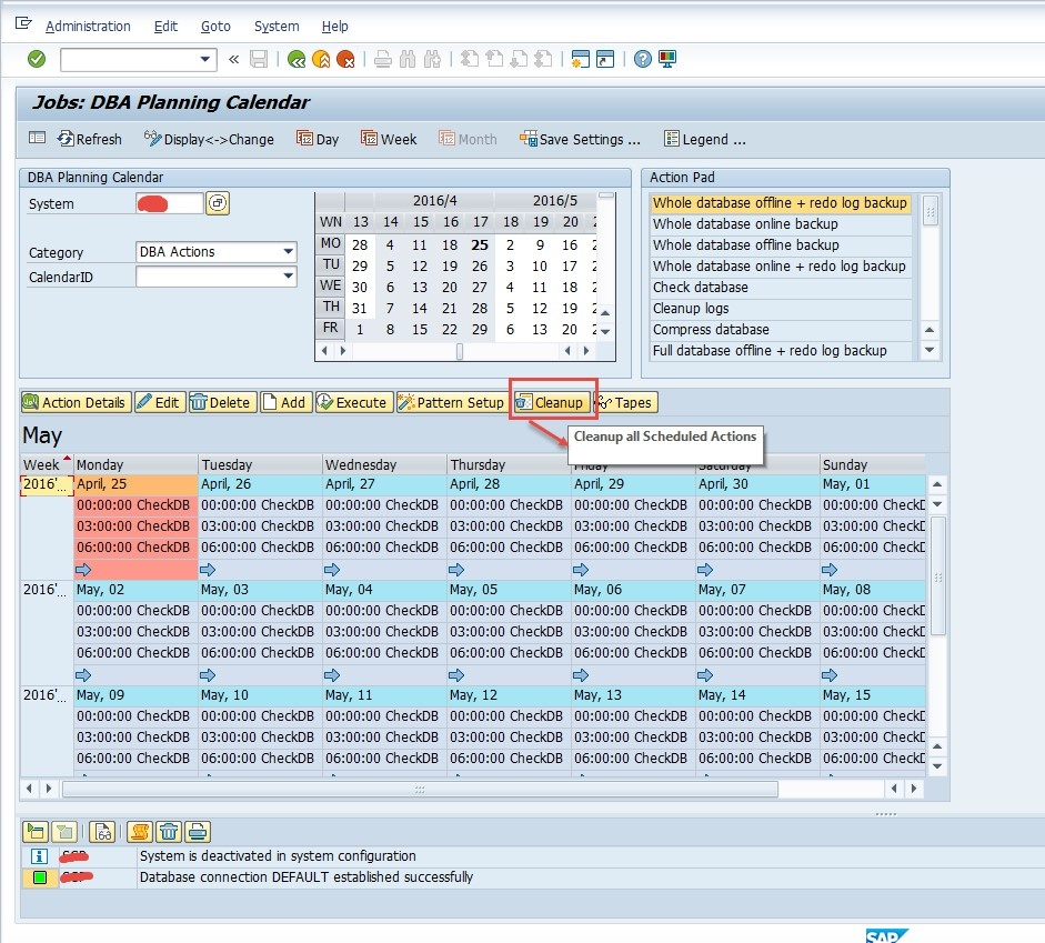 How to reset the scheduling jobs in DB13 - SAP on Oracle
