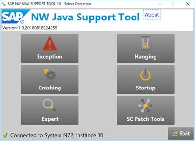 SAP NW Java Support Tool - SAP Netweaver Application Server Java